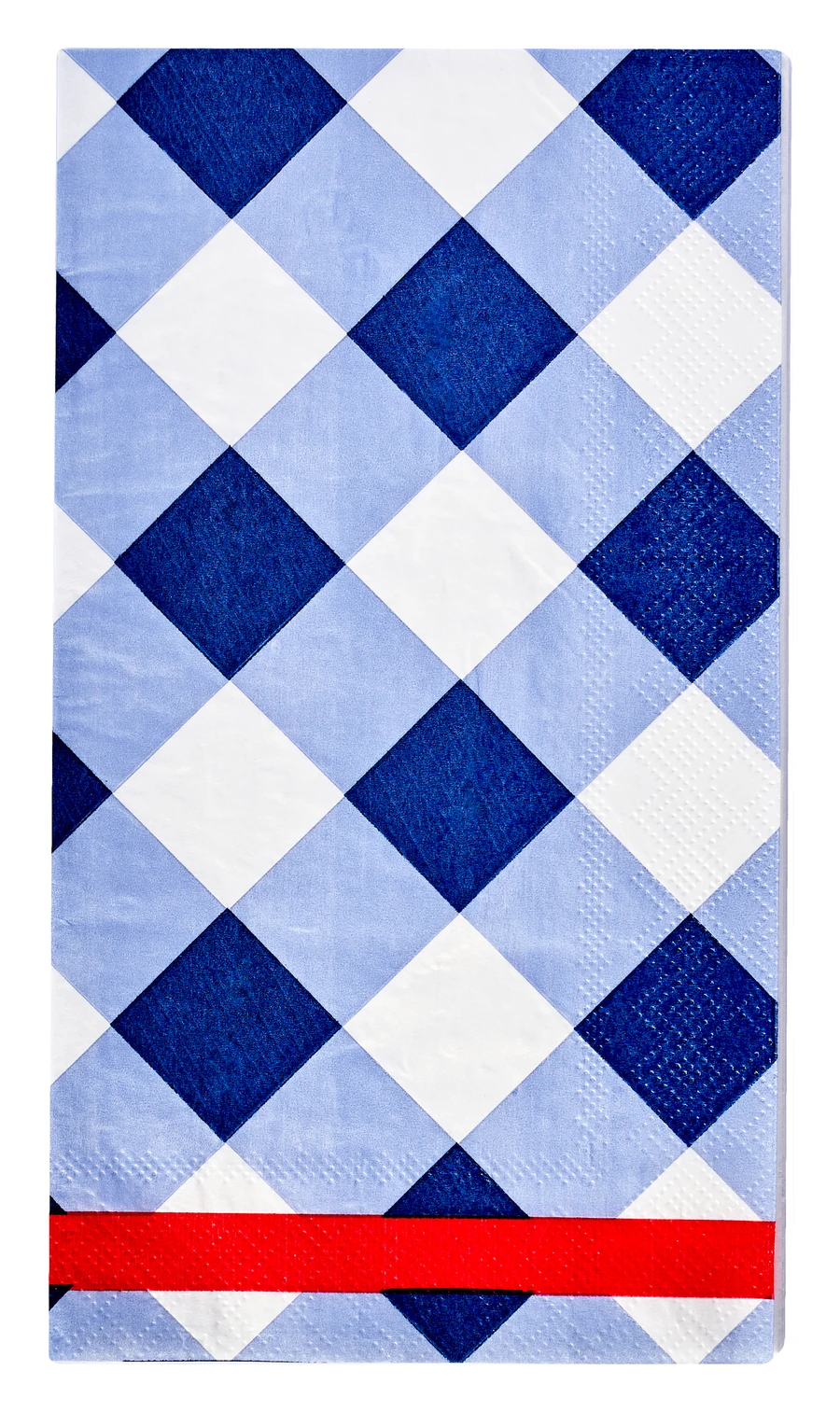 Sophistiplate Guest Towel Blue Check 20pk