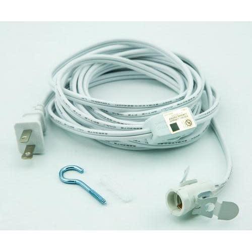 Asian Import Store Cord Kit Candelabra Socket White 11ft
