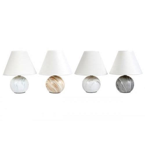 Dennis East Everyday Lamp Ceramic Round Marble Look 4 Assorted Styles 11in (Each Sold Separately)