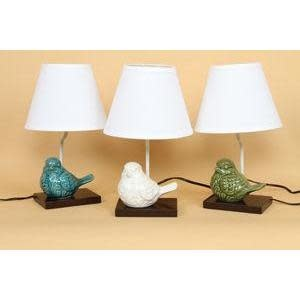 Dennis East Everyday Lamp Crackled Ceramic Bird 3 Asst. Colors (Each Sold Separately)