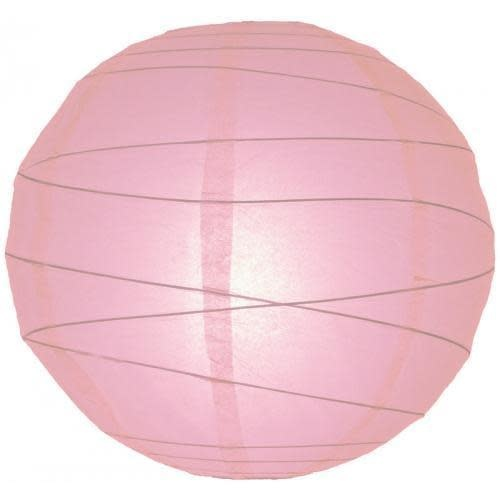 Asian Import Store Paper Lantern 16in Irregular Ribbed Pink
