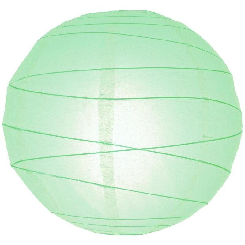 Asian Import Store Paper Lantern 10in Irregular Ribbed Cool Mint ( Robin's Egg )