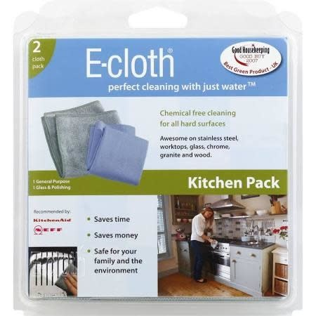 E-Cloth Cleaning Supplies - Kitchen Cleaning 2 Cloths (pack)