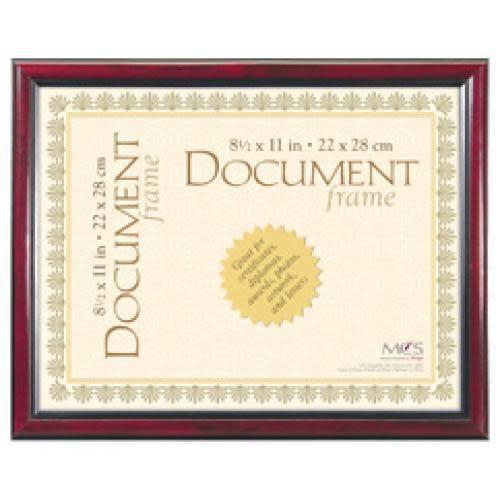 MCS Document Frame University Elegant 8.5x11 Black & Gold