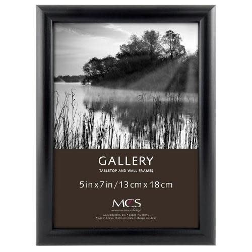 MCS Table Top Frame Bullnose Black 5 X 7