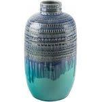 "Home Essentials & Beyond 12""H Aqua Reactive Pierced Vase"
