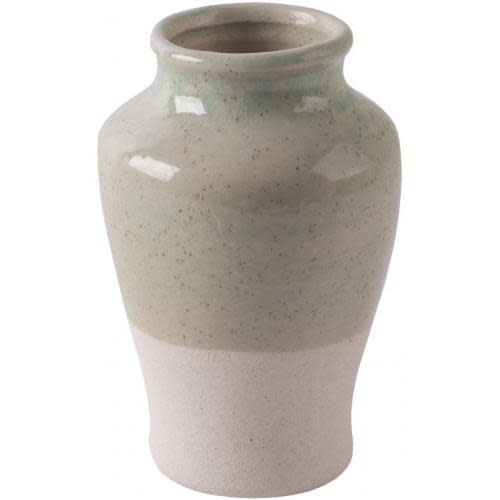 Home Essentials & Beyond Vase Light Green And Natural 5in