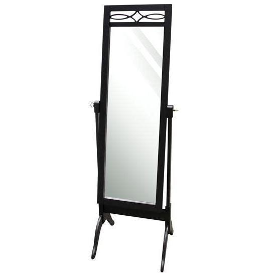 Stylecraft Floor Mirror Cheval Matte Black
