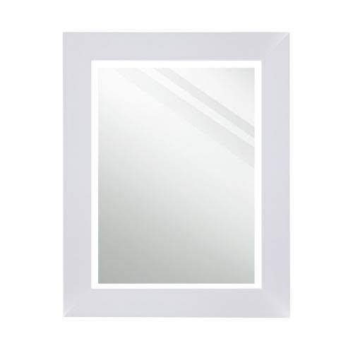 Stylecraft Mirror Rectangle White Paint Finish 23.25in X 29in Overall