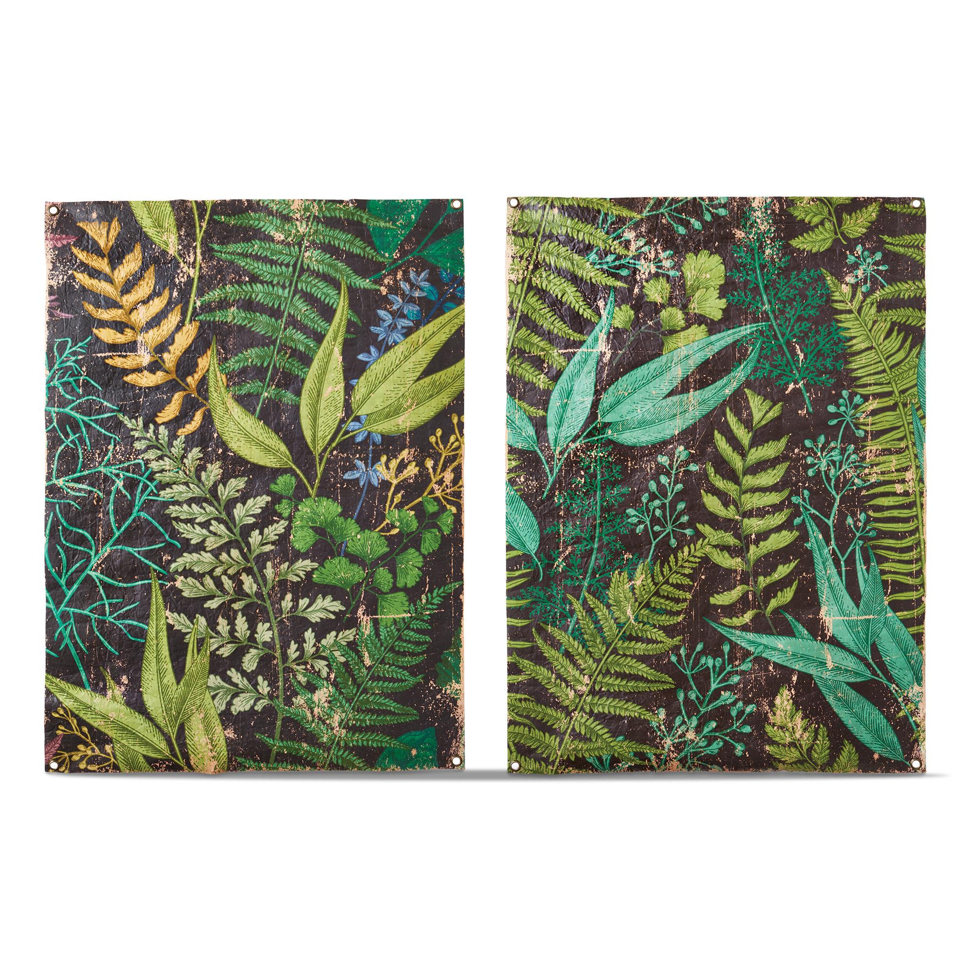 Tag Foliage Wall Art - Assorted 2