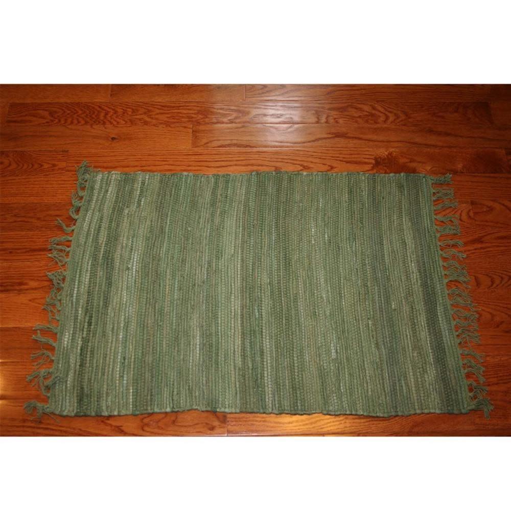 Homestead Cotton Rag Rug Celadon 3x5