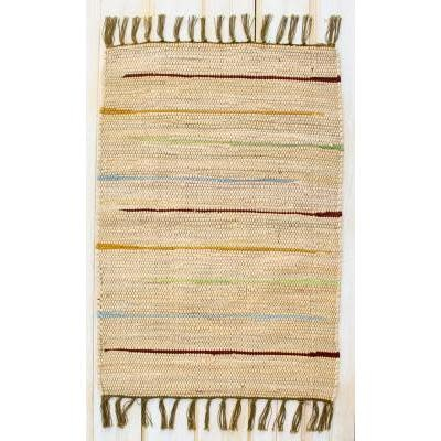 """CLM Style Canyon Stripe 28"""" X 84"""" Rug Runner Natural"""