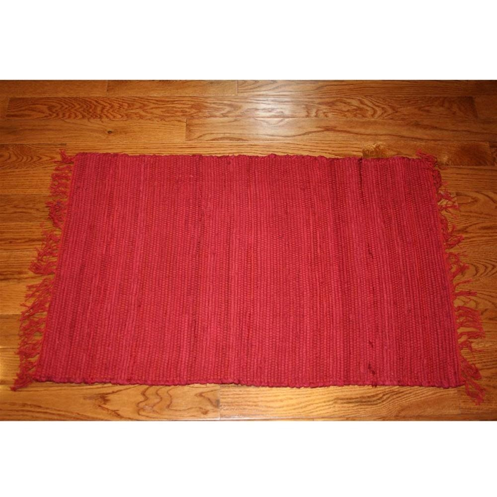 Homestead Rag Rug Cotton Rust 4'x6'