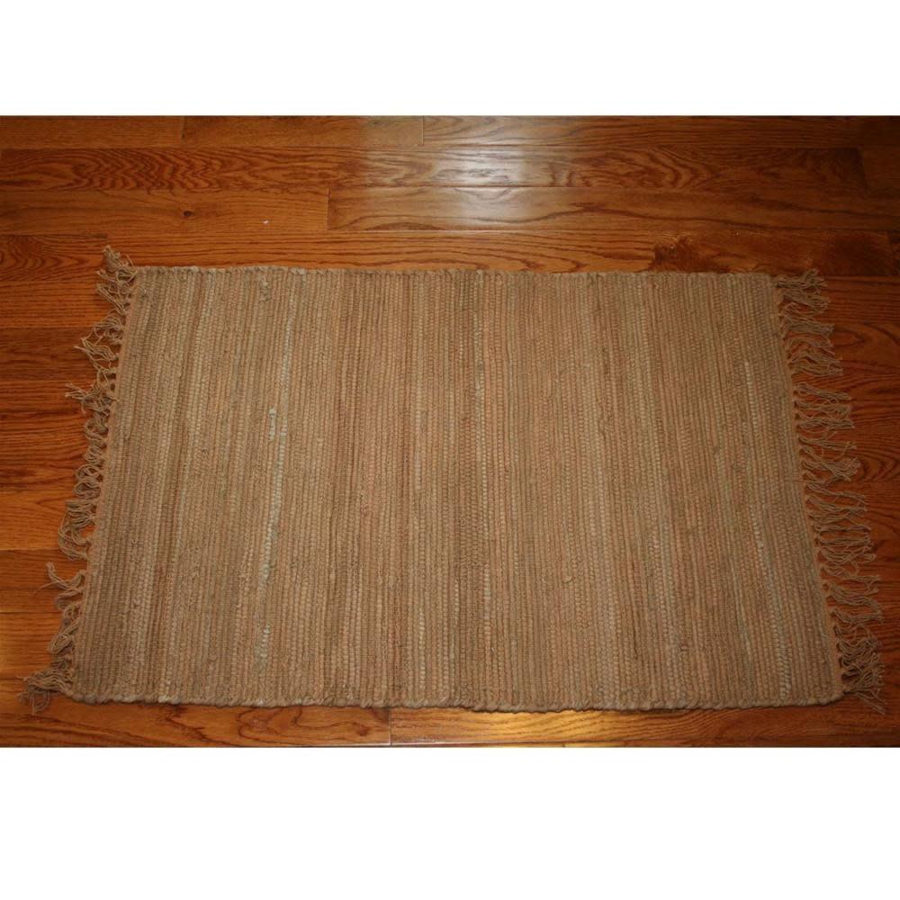 Homestead Rag Rug Cotton Tan 4'x6'
