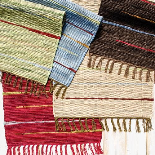 CLM Style Canyon Stripe 4' X 6' Rug Red