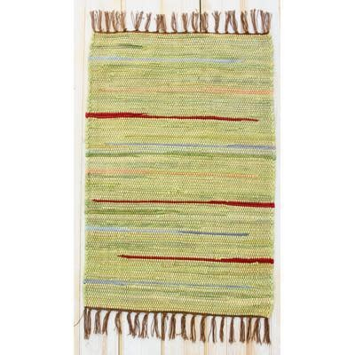 """CLM Style Canyon Stripe 28"""" X 84"""" Rug Runner Green"""