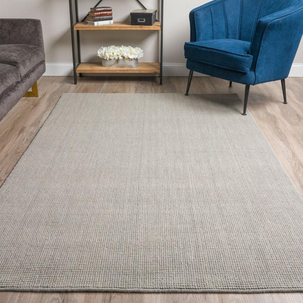 "Dalyn Rugs Monaco Popcorn Wool 5' X 7'6"" Rug Silver"