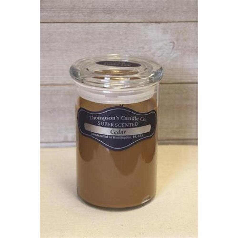 Thompsons Candle Co. Large Jar Candle with Glass Lid 20 oz - Cedar