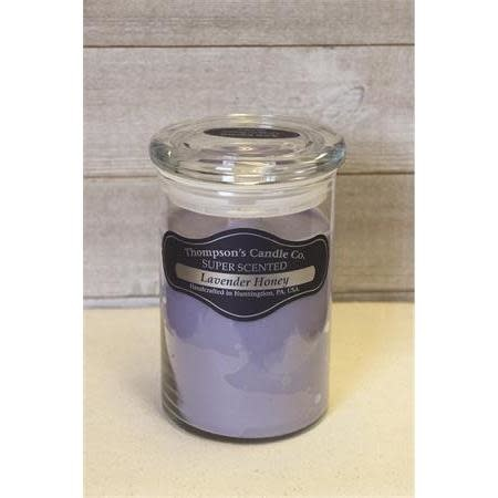 Thompsons Candle Co. Large Jar Candle with Glass Lid 20 oz - Lavender Honey