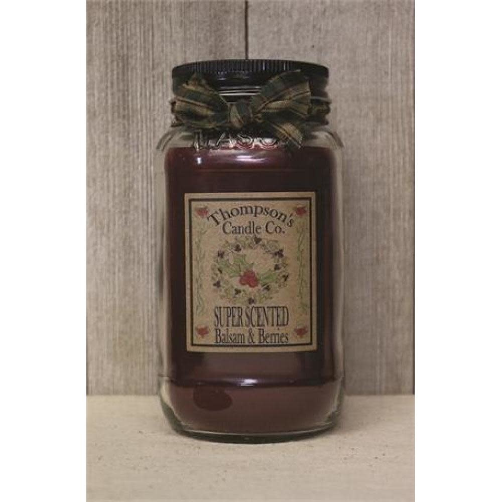 Thompsons Candle Co. Large Mason Jar Candle 20 oz - Balsam & Berries