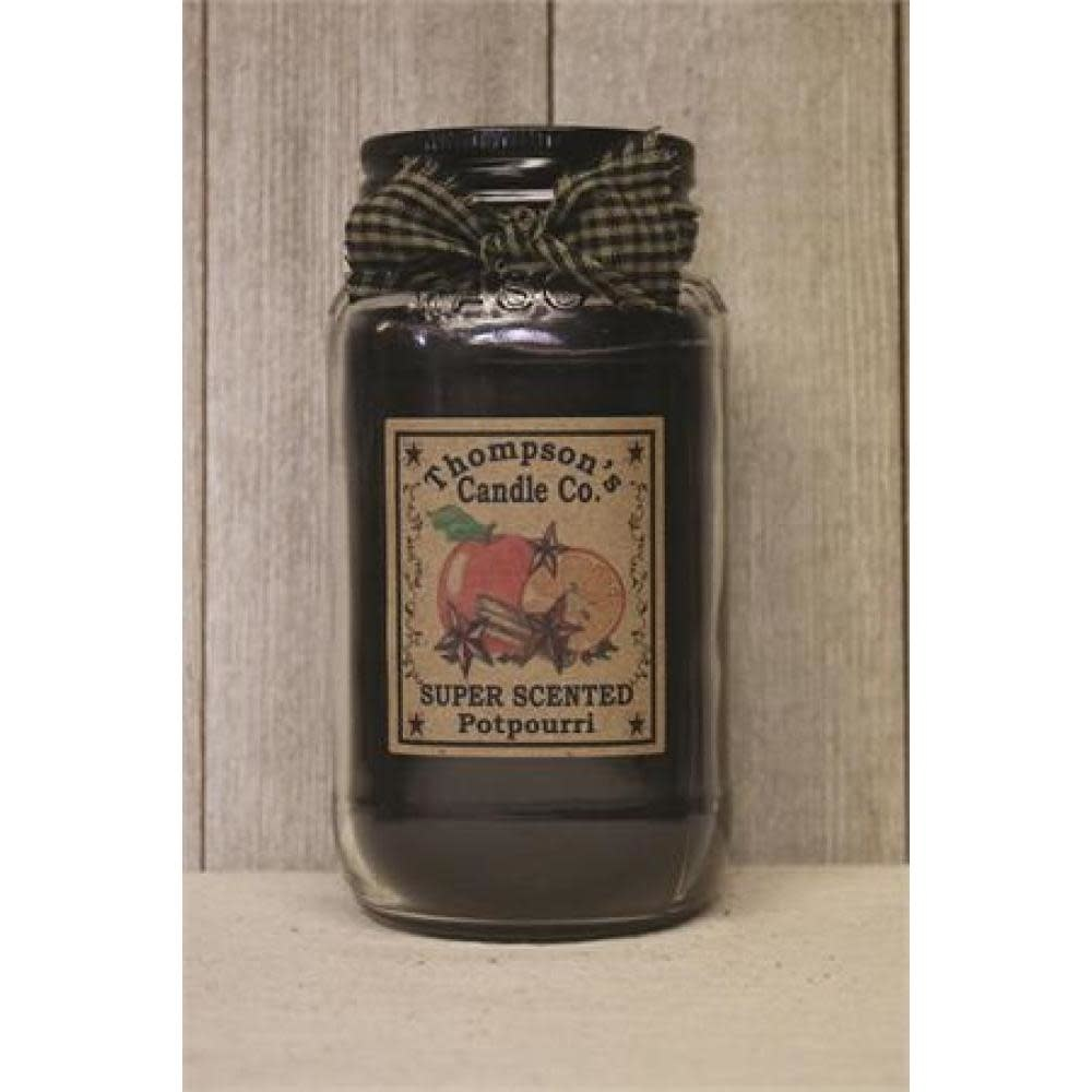 Thompsons Candle Co. Large Mason Jar Candle 20 oz - Potpourri