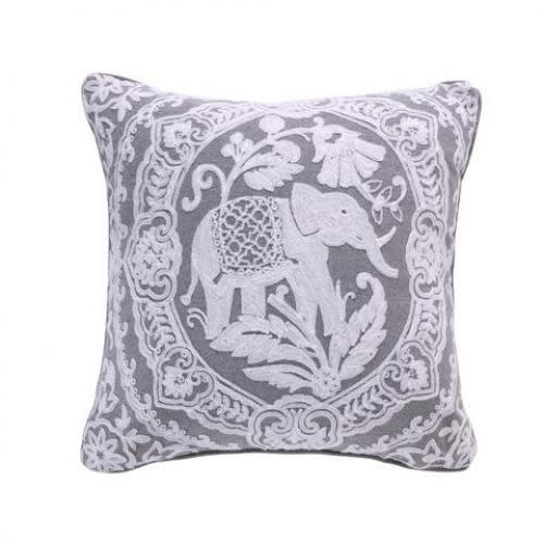 Levtex Home Avalon Spa Teal Elephant Medallion Pillow