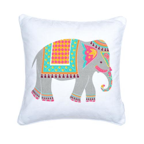 Levtex Home Riley Bright Elephant Pillow 20in X 20in