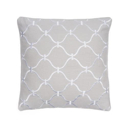 Levtex Home Block Print Grey Pillow 20in X 20in