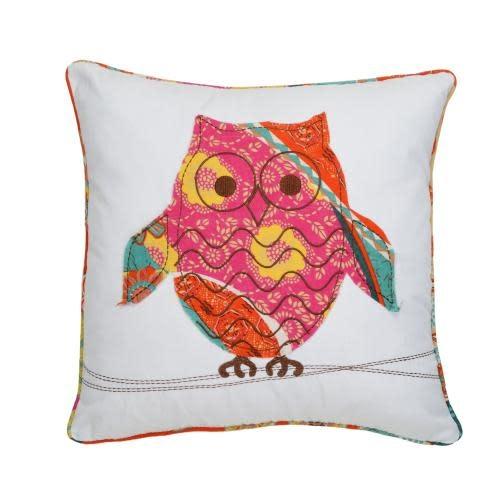 Levtex Home Zanzibar Owls Pillow 18in X 18in