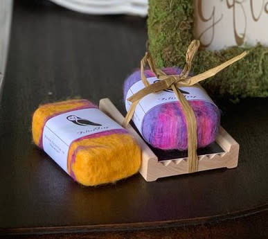 Barn Owl Vermont Felted Soap Gift Set - Aloe Vera