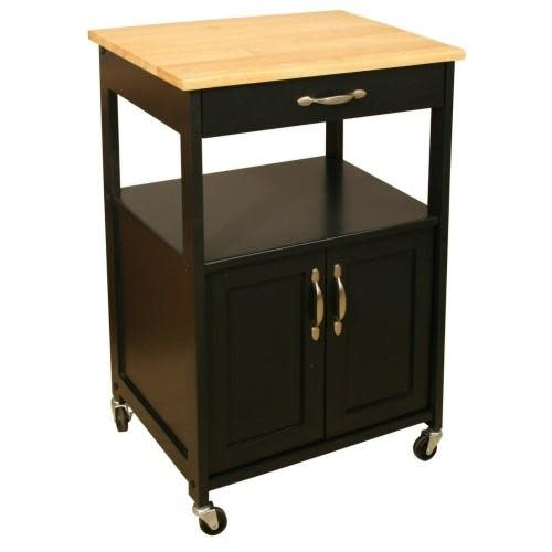 Catskill Craftsmen Inc. Kitchen Cart With Black Base 23x17