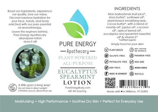 Pure Energy Apothecary Body Lotion - 2oz Eucalyptus & Spearmint