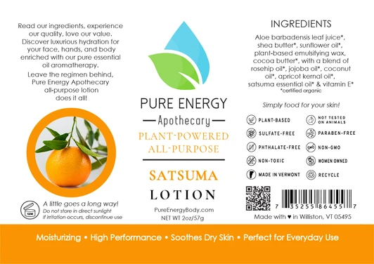 Pure Energy Apothecary Body Lotion - 2oz Satsuma