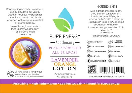 Pure Energy Apothecary Body Lotion - 2oz Lavender & Orange