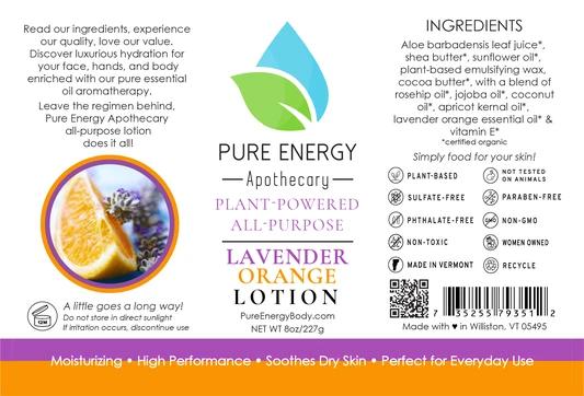 Pure Energy Apothecary Body Lotion - 8oz Lavender Orange