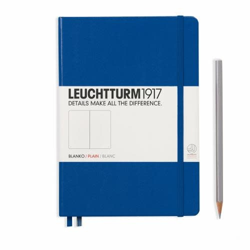 Leuchtturm 1917 Notebook Medium (A5) Hardcover, 249 numbered pages, plain, royal blue
