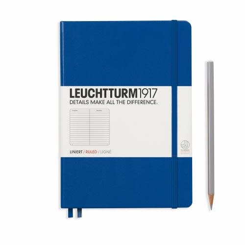 Leuchtturm 1917 Notebook Medium (A5), Hardcover, 251 numbered pages, ruled, royal blue