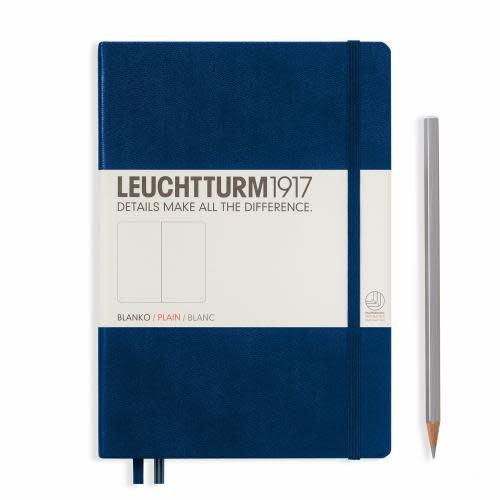 Leuchtturm 1917 Notebook Medium (A5) Hardcover, 249 numbered pages, plain, navy