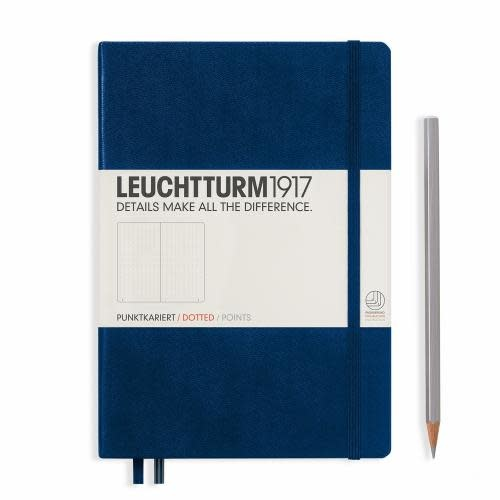 Leuchtturm 1917 Notebook Medium (A5) Hardcover, 249 numbered pages, dotted, navy
