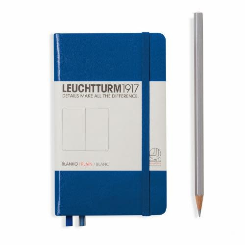 Leuchtturm 1917 Notebook Pocket (A6) Hardcover, 185 numbered pages, plain, royal blue
