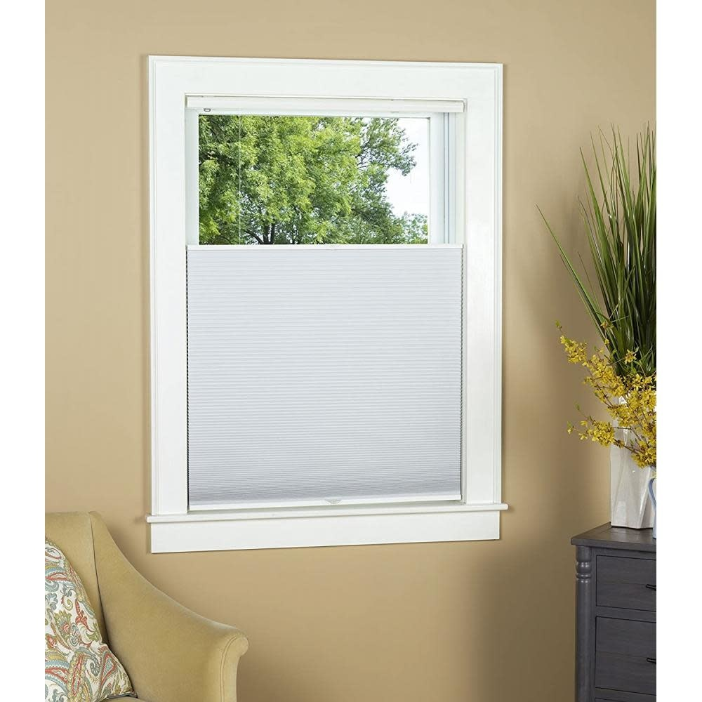 Green Mountain Vista Top Down Bottom Up Honeycomb Shade Blackout White 26in X 64in