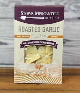 Stowe Mercantile Kitchen Crackers - Roasted Garlic