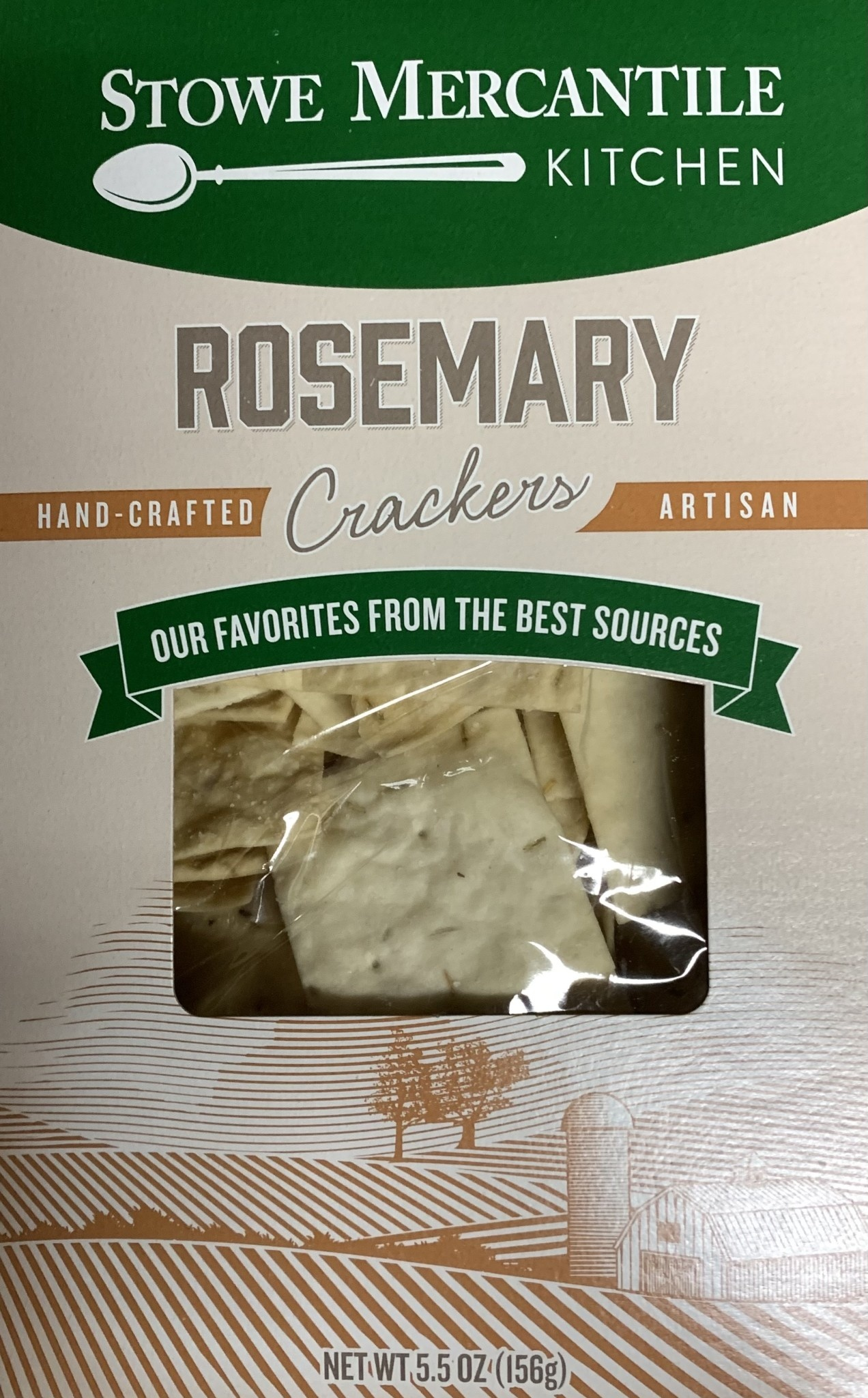 Stowe Mercantile Kitchen Crackers - Rosemary