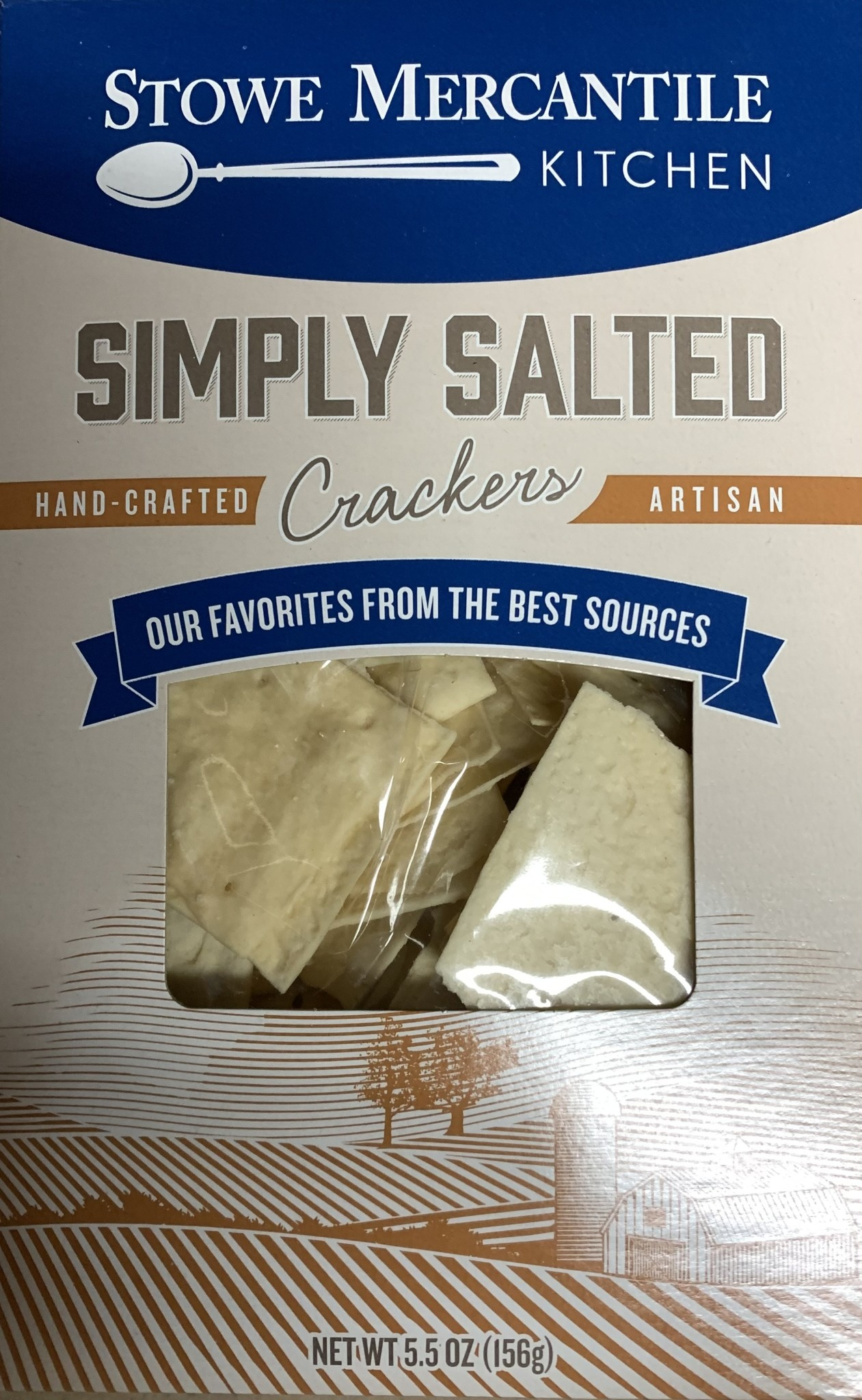 Stowe Mercantile Kitchen Crackers Simply Salted