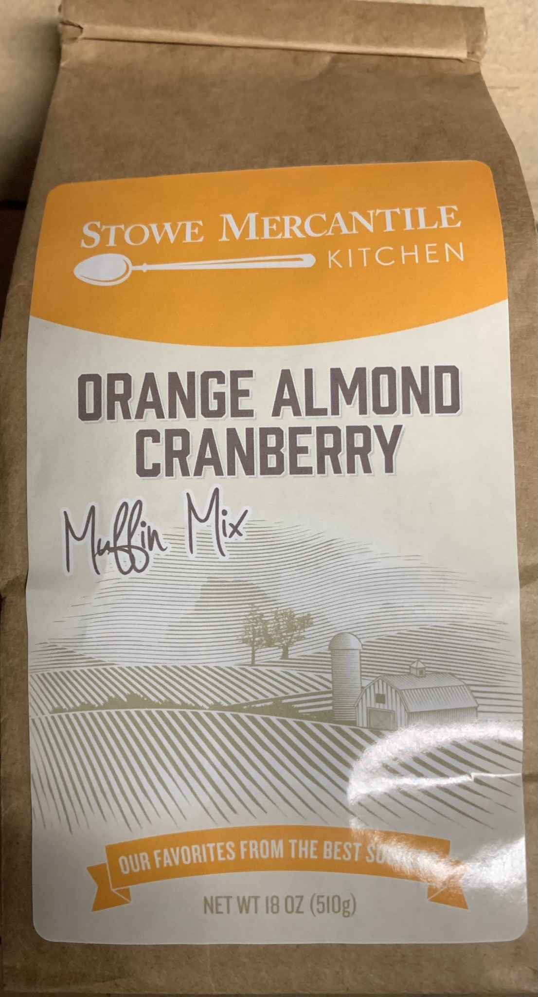Stowe Mercantile Kitchen Muffin Mix Orange Almond Cranberry