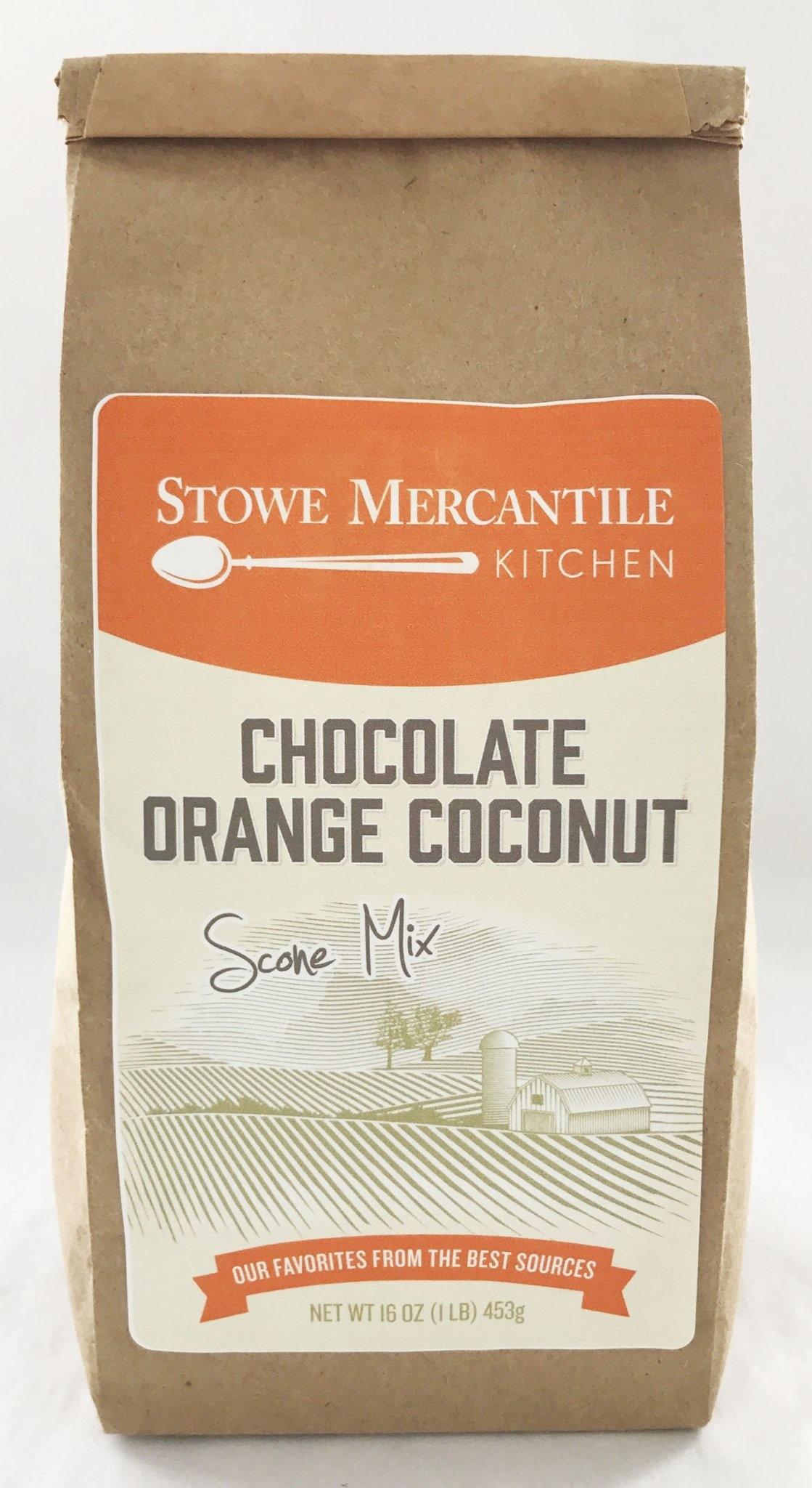 Stowe Mercantile Kitchen Scone Mix - Chocolate Orange Coconut