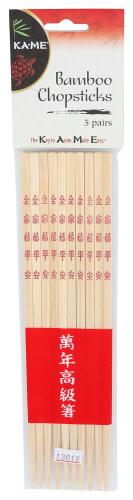 Ka Me Bamboo Chopstick 5 Pairs