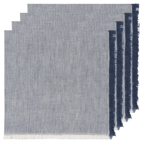 Now Designs Cloth Napkin - Chambray Heirloom - Midnight, Set of 4