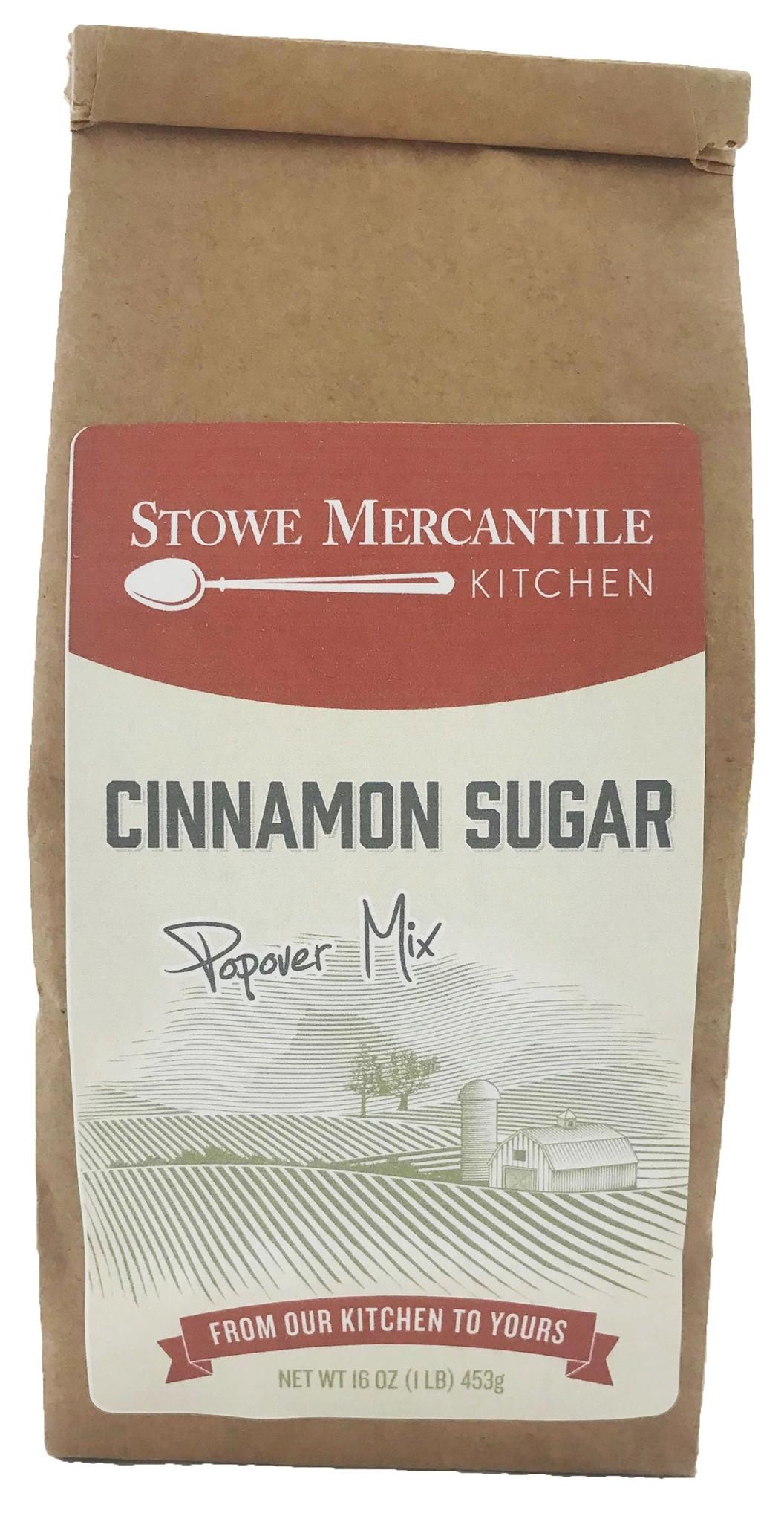 Stowe Mercantile Kitchen Popover Mix Cinnamon Sugar