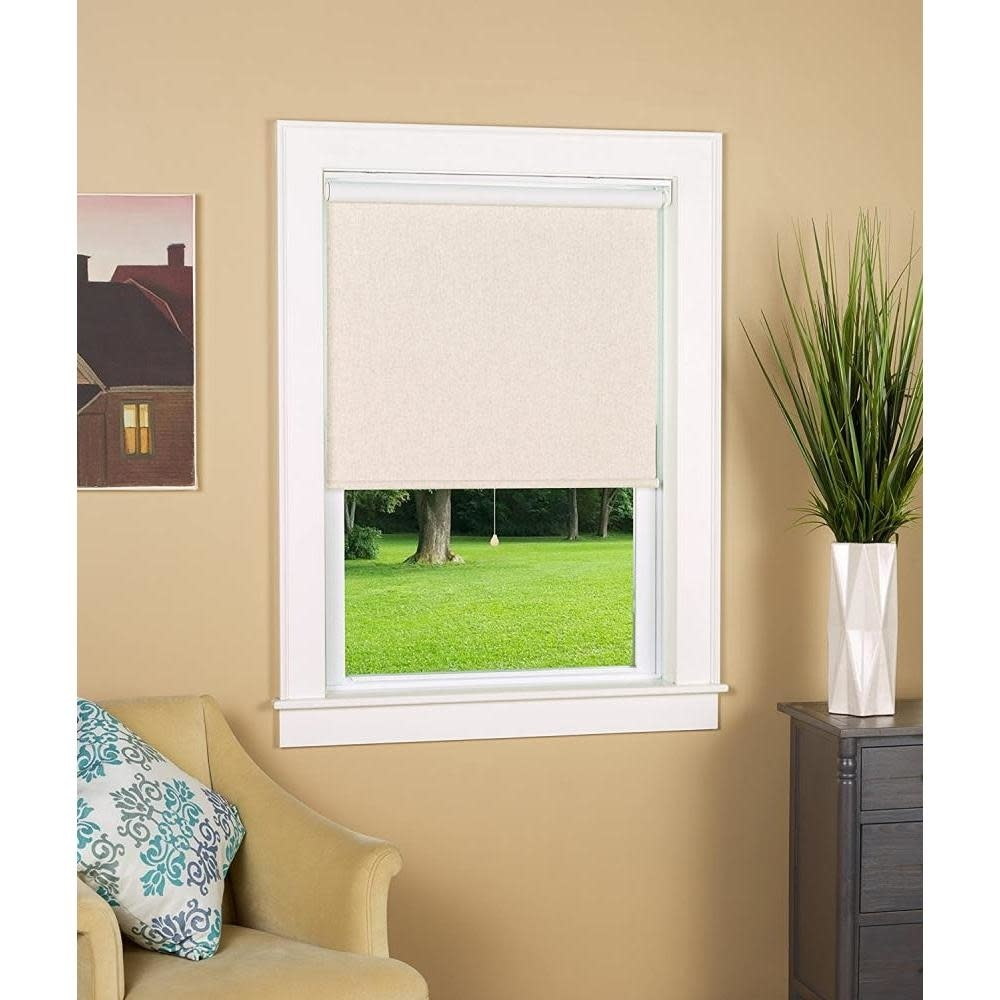 Green Mountain Vista Blackout Cordless Roller Shade White 34in X 72in